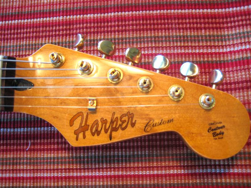 Headstock with custom decal