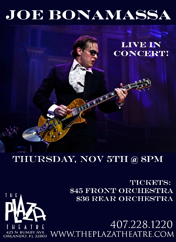 Joe Bonamassa Plaza Theater